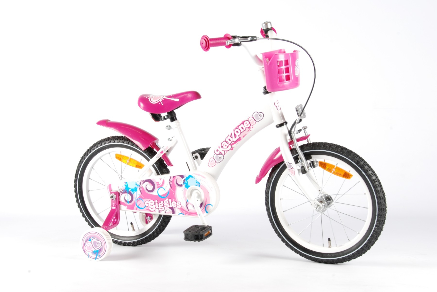Велосипед Volare Giggles 2014 Белый/розовый