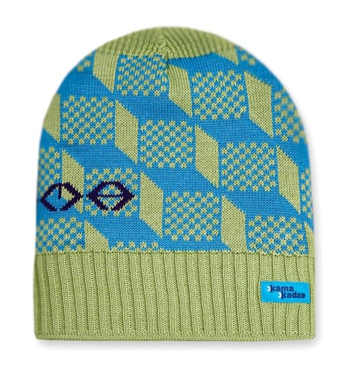 женская шапка kama, зеленая