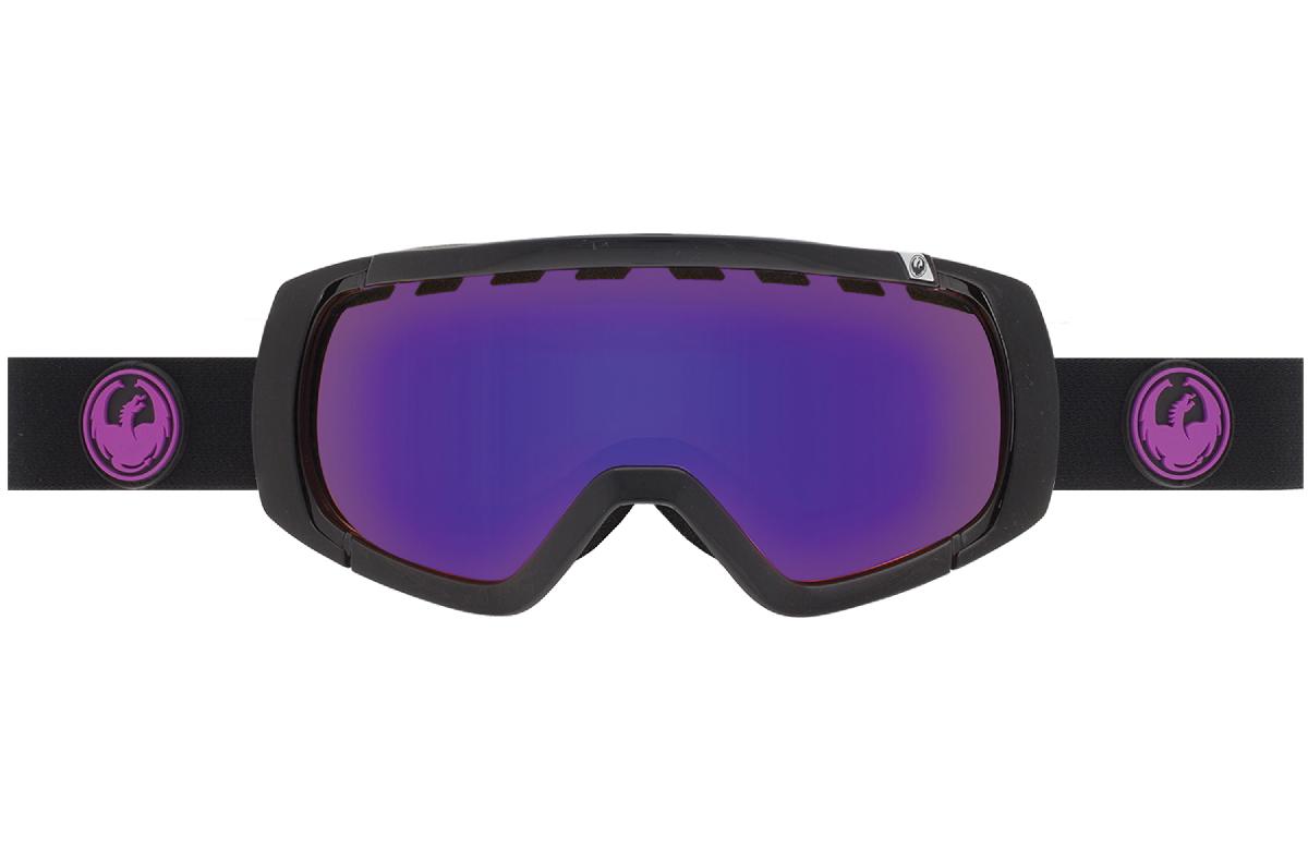 Купить Очки горнолыжные DRAGON 2015-16 ROGUE Jet / Purple Ion, Yellow Red горнолыжные, 1220931