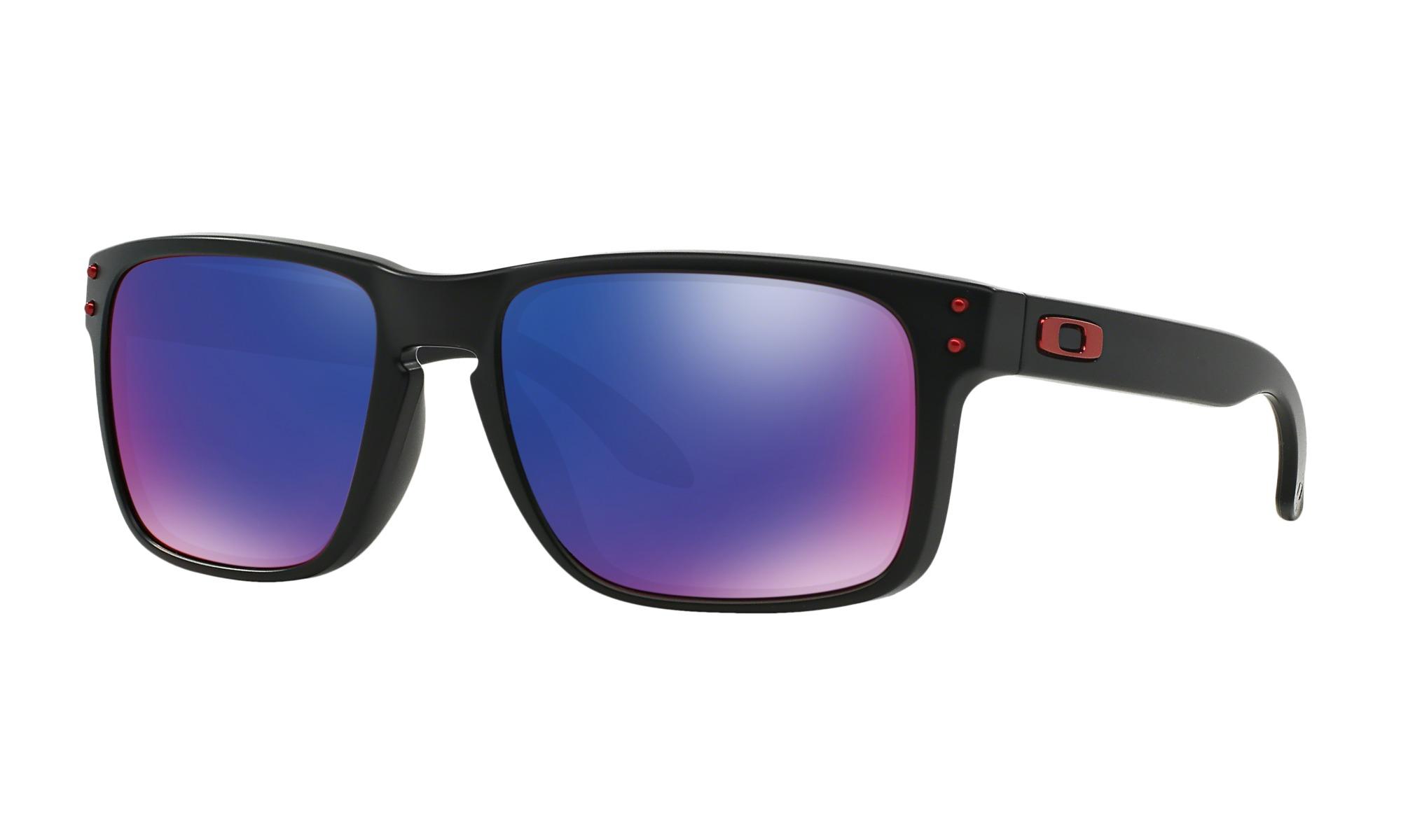 Купить Очки солнцезащитные Oakley 2018 HOLBROOK MATTE BLACK/POSITIVE RED IRIDIUM, горнолыжные, 1354285