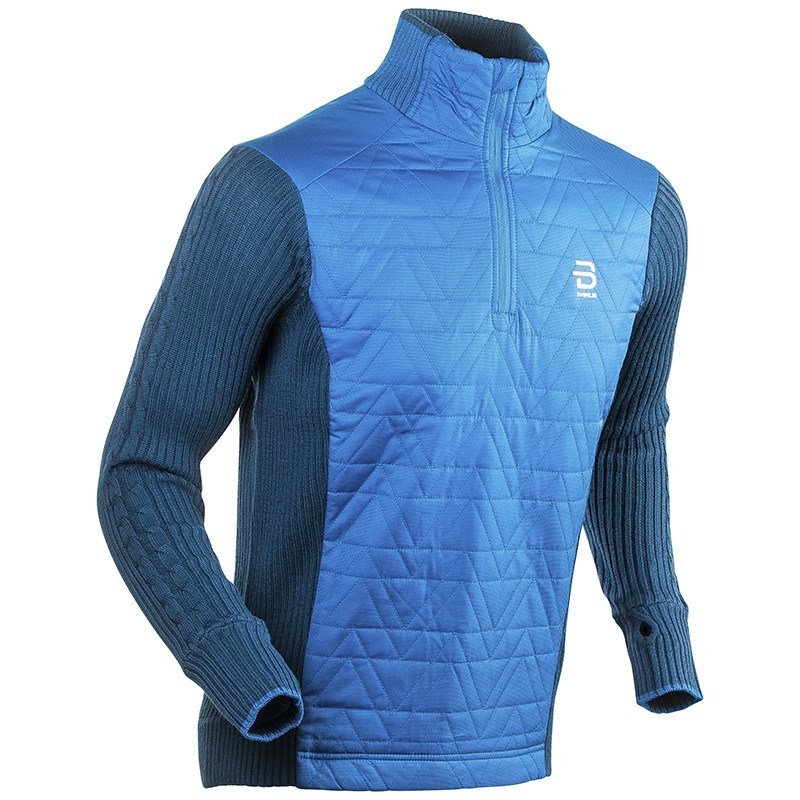 Купить Жакет Беговой Bjorn Daehlie 2017-18 Half Zip Comfy Mykonos Blue, мужской, Одежда для бега и фитнеса