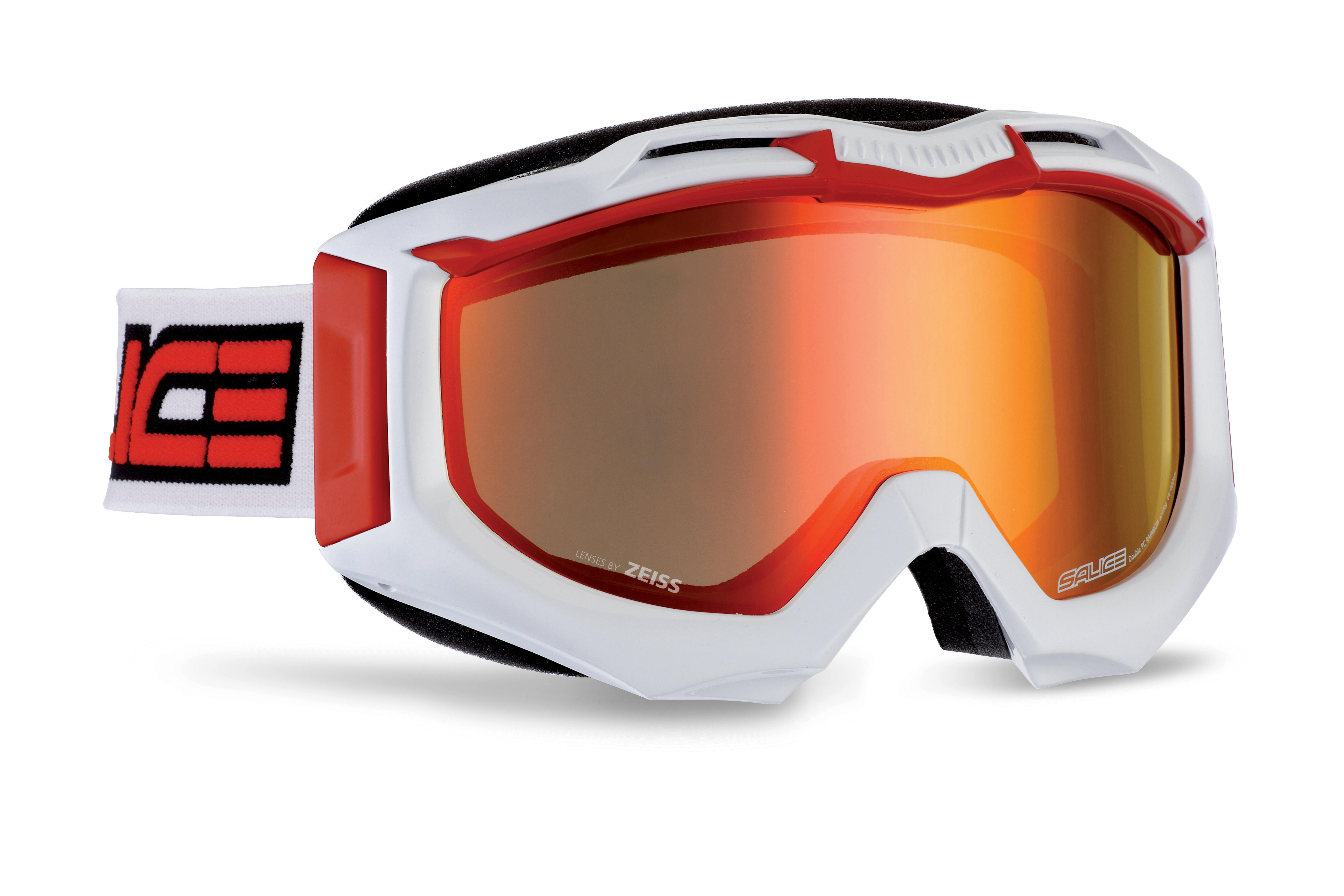 Купить Очки горнолыжные Salice 602DARWF White/RW Red, горнолыжные, 1126884