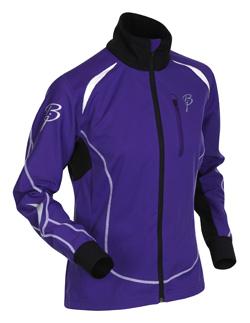 Купить Куртка беговая Bjorn Daehlie Jacket PACE Women (Deep Blue/Black/Snow White) черный/фиолетовый/белый Одежда лыжная 709851