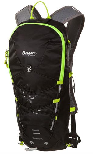 Рюкзак Bergans Rondane 6L Black/Neon Green Рюкзаки туристические 1136917  - купить со скидкой