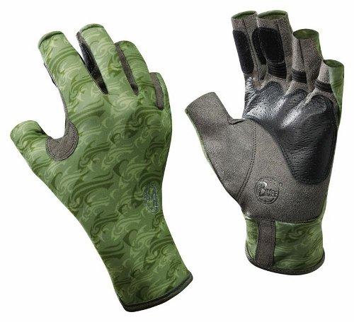 Купить Перчатки рыболовные BUFF Pro Series Angler Gloves Skoolin Sage (св. зеленый) Перчатки, варежки 849391