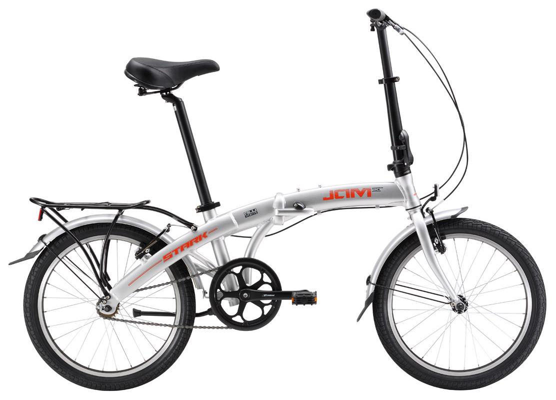 Купить Велосипед Stark Jam 20.1 SV 2017 Серебристо-Красный, Складные велосипеды, 1317847