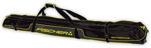 Купить Чехол для беговых лыж FISCHER 2017-18 XC 210см на колёсах 5 пар Черный, Чехлы лыж, 1365810