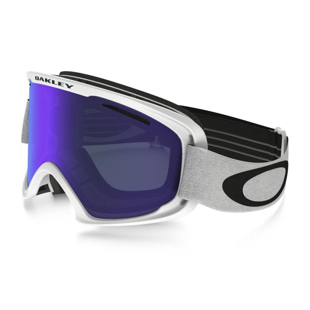 Купить Очки горнолыжные Oakley O2 XM MATTE WHITE/VIOLET IRIDIUM/, горнолыжные, 1293328