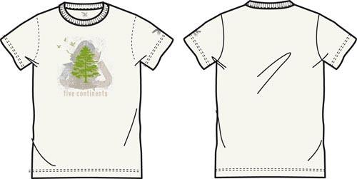 Купить Футболка для активного отдыха Salewa 5 Continents TREE CO M TEE snow Одежда туристическая 549267