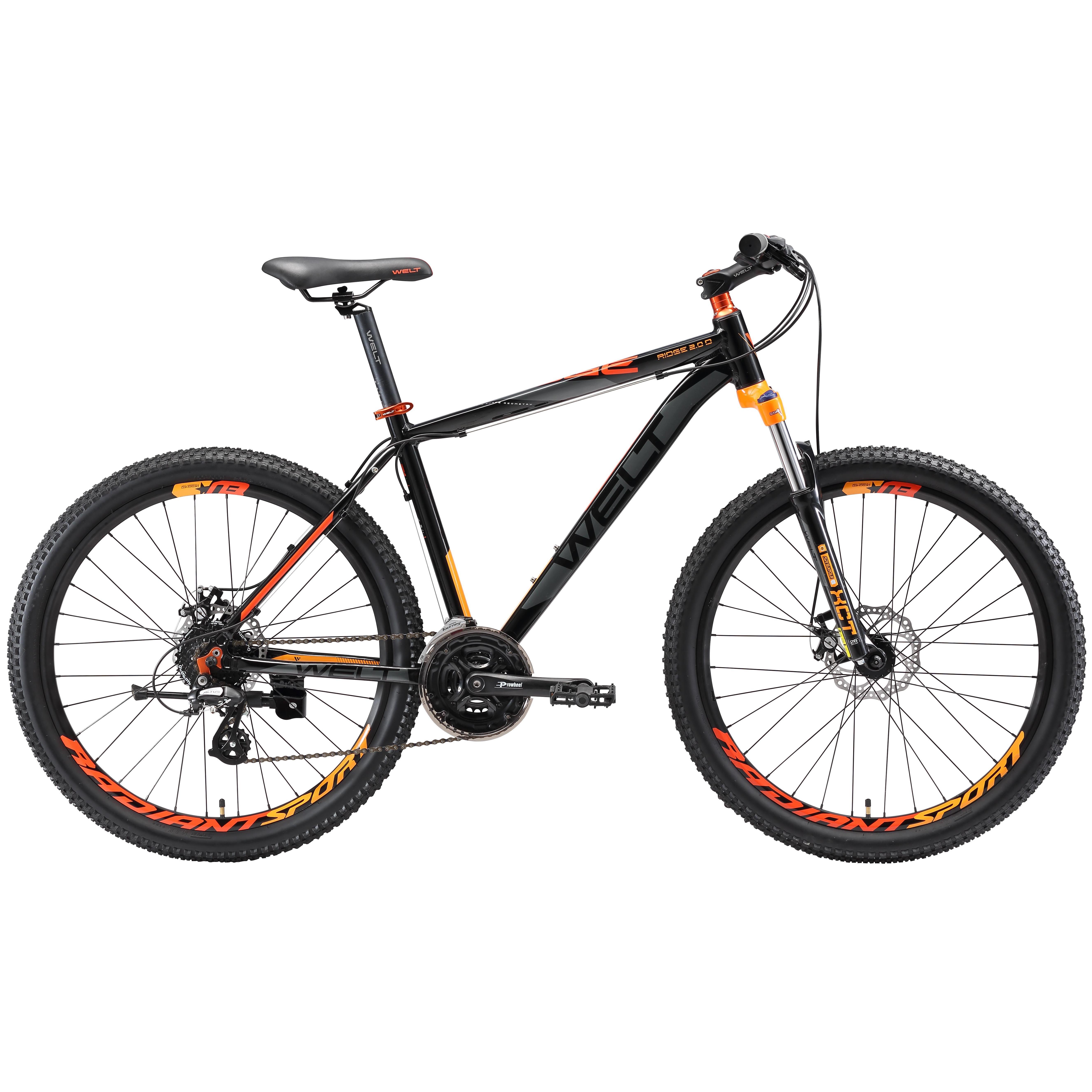 Велосипед Welt 2018 Ridge 2.0 D Black/orange