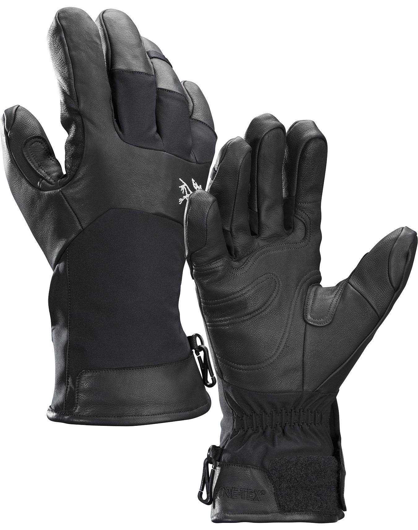 женские перчатки arcteryx, черные