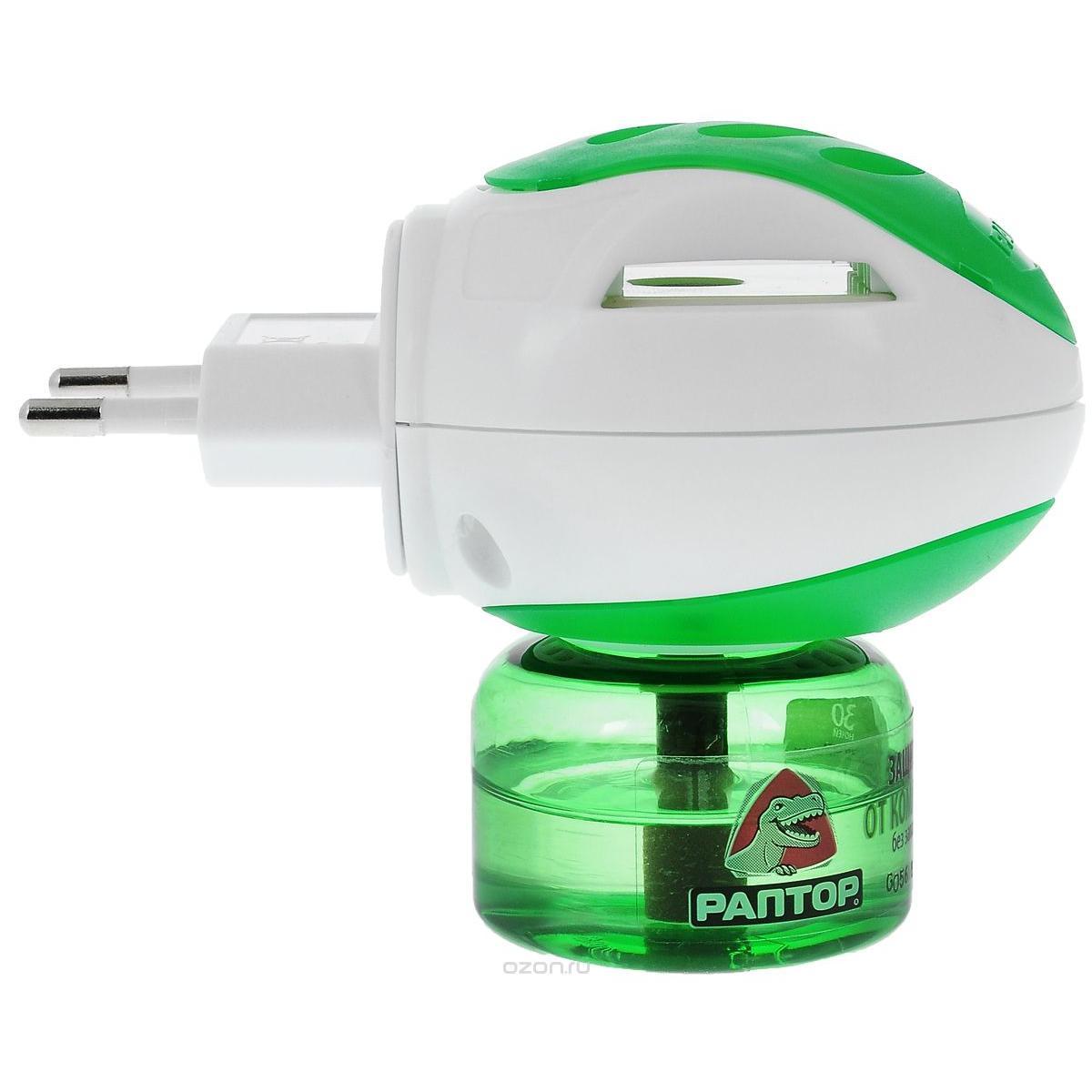 Комплект Раптор Прибор+Жидкость От Комаров 30 Ночей от КАНТ