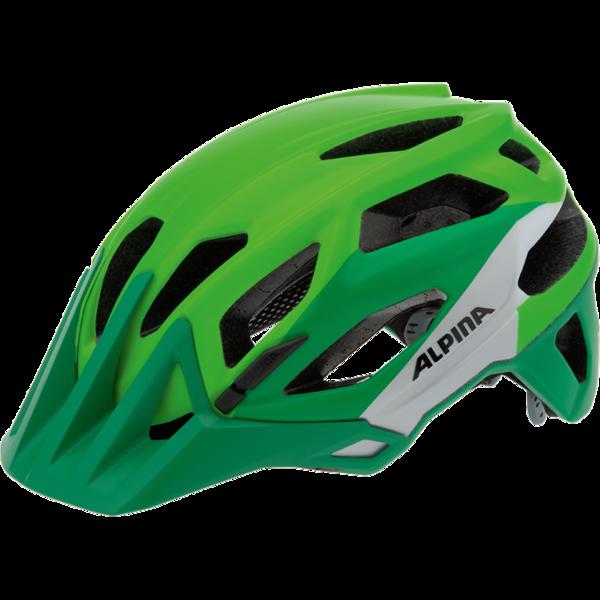 Летний шлем Alpina Enduro Garbanzo green-silver-white Шлемы велосипедные 1179847  - купить со скидкой
