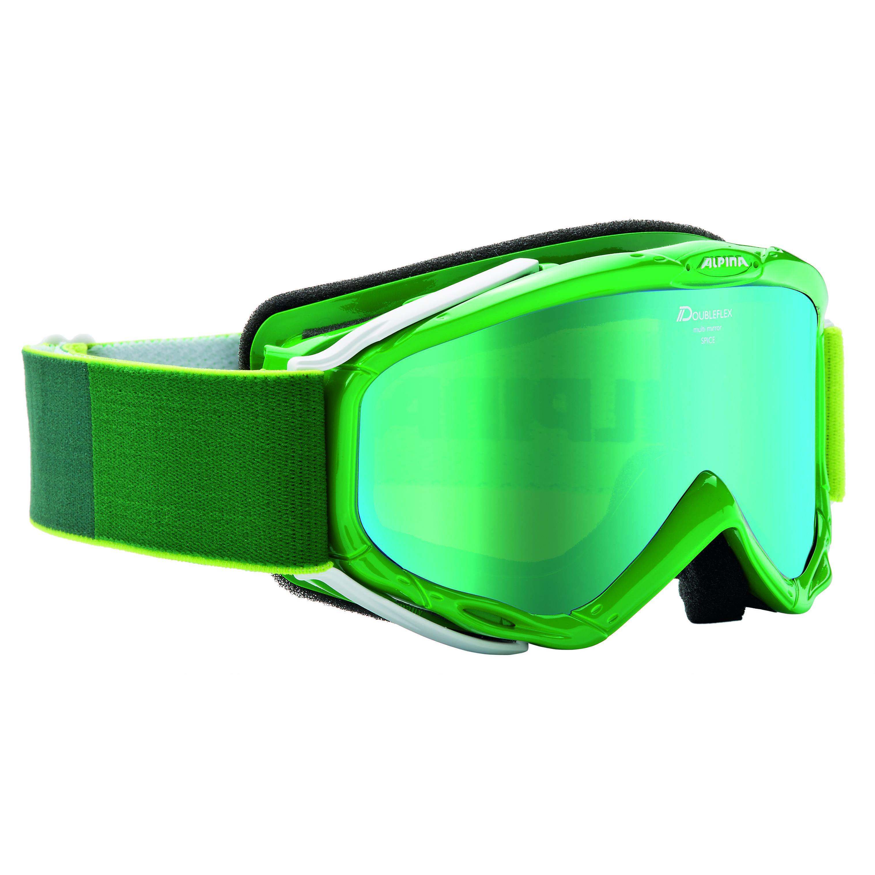 Купить Очки горнолыжные Alpina SPICE MM green-white_MM green S2, горнолыжные, 1131530