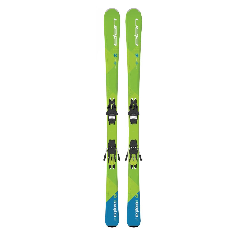 Купить Горные лыжи с креплениями Elan 2017-18 EXPLORE 8 GRN/BLUE LS EL10.0, лыжи, 1359425