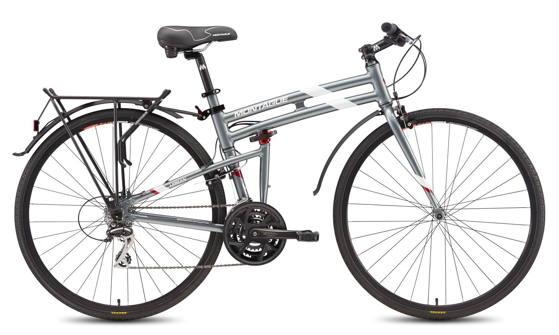 Велосипед Montague Urban 21 21 Speed 700C With Rackstand 2017 Дымчатый Серый С Белыми И Красными Акцентами