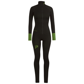 Купить Комплект беговой Bjorn Daehlie Racesuit QUEST One-piece suit Women Black/Green Gecko (черный/т.зеленый), Одежда для бега и фитнеса, 858398