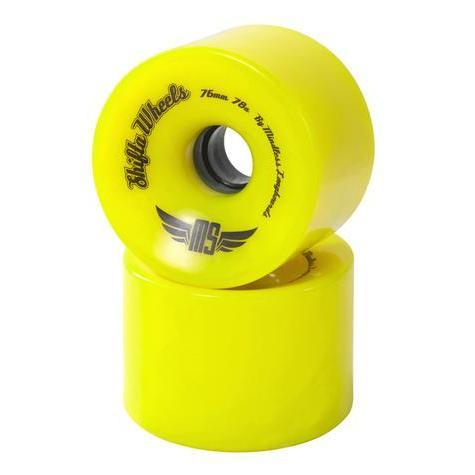 Купить Колеса (4 штуки) для лонгборда Mindless 2017 Shifta Wheel Yellow, Аксессуары лонгбордов/скейтбордов, 1336785