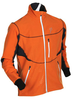 Куртка беговая Bjorn Daehlie Jacket CHALLENGER (Orange Popsicle/Ebony/Snow White) оранжевый/черный/белый