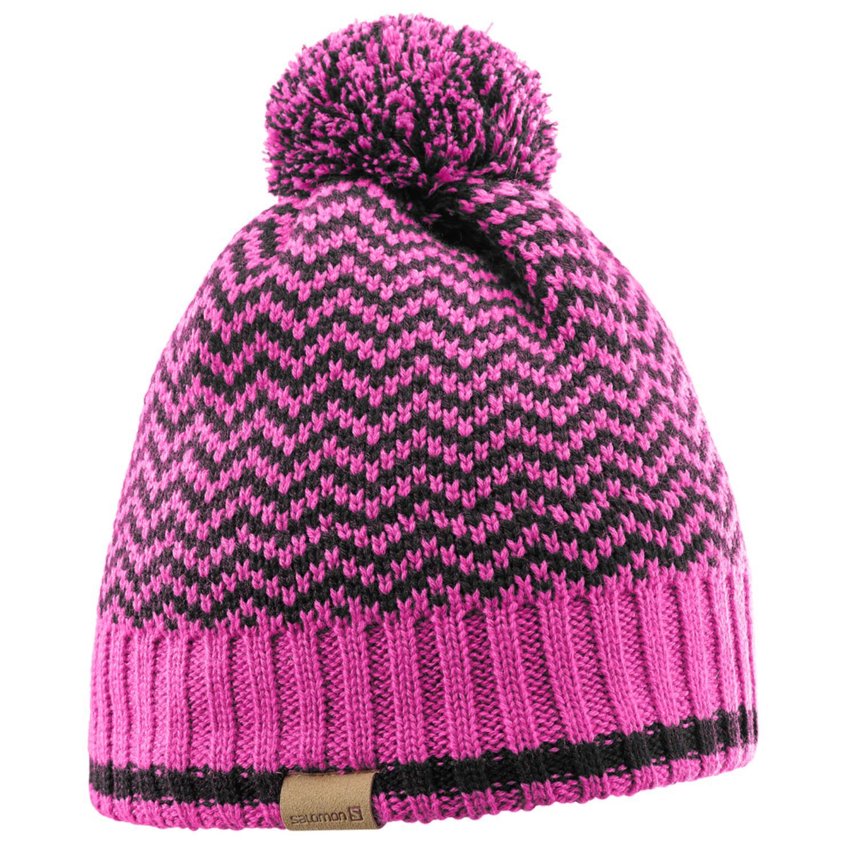 женская шапка salomon, черная