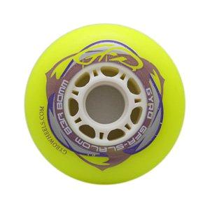 Купить Колеса GYRO GFR SLALOM 80 мм/83А yellow Аксессуары для роликов 745536