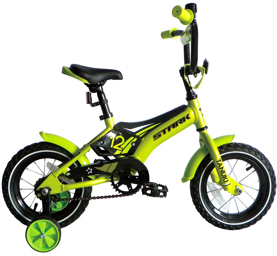 Купить Велосипед Stark Tanuki 12 Boy 2017 Зелено-Черный, До 6 лет (колеса 12 -18 ), 1317884