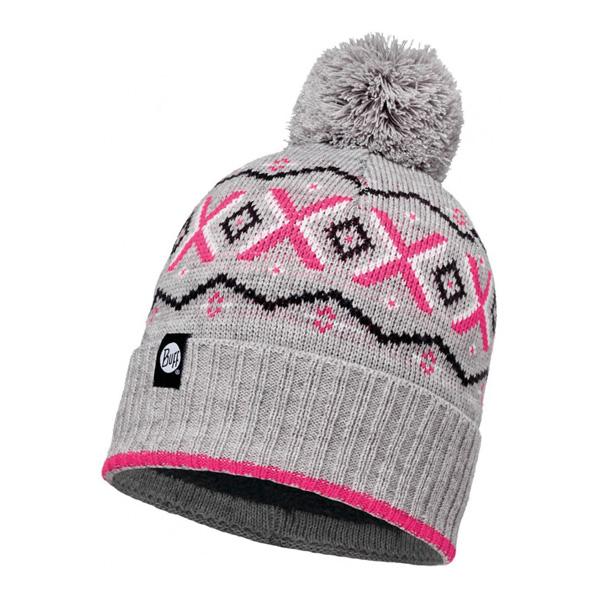 Шапка BUFF KNITTED & POLAR HAT ASPEN MELANGE GREY-MELANGE GREY-Standard Банданы и шарфы Buff ® 1227799  - купить со скидкой