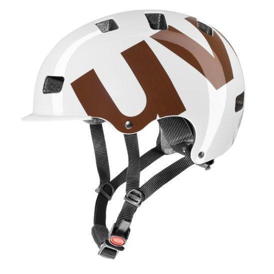 Купить Летний шлем UVEX HLMT 5 bike pro white-brown (бело-коричневый), Шлемы велосипедные, 908060