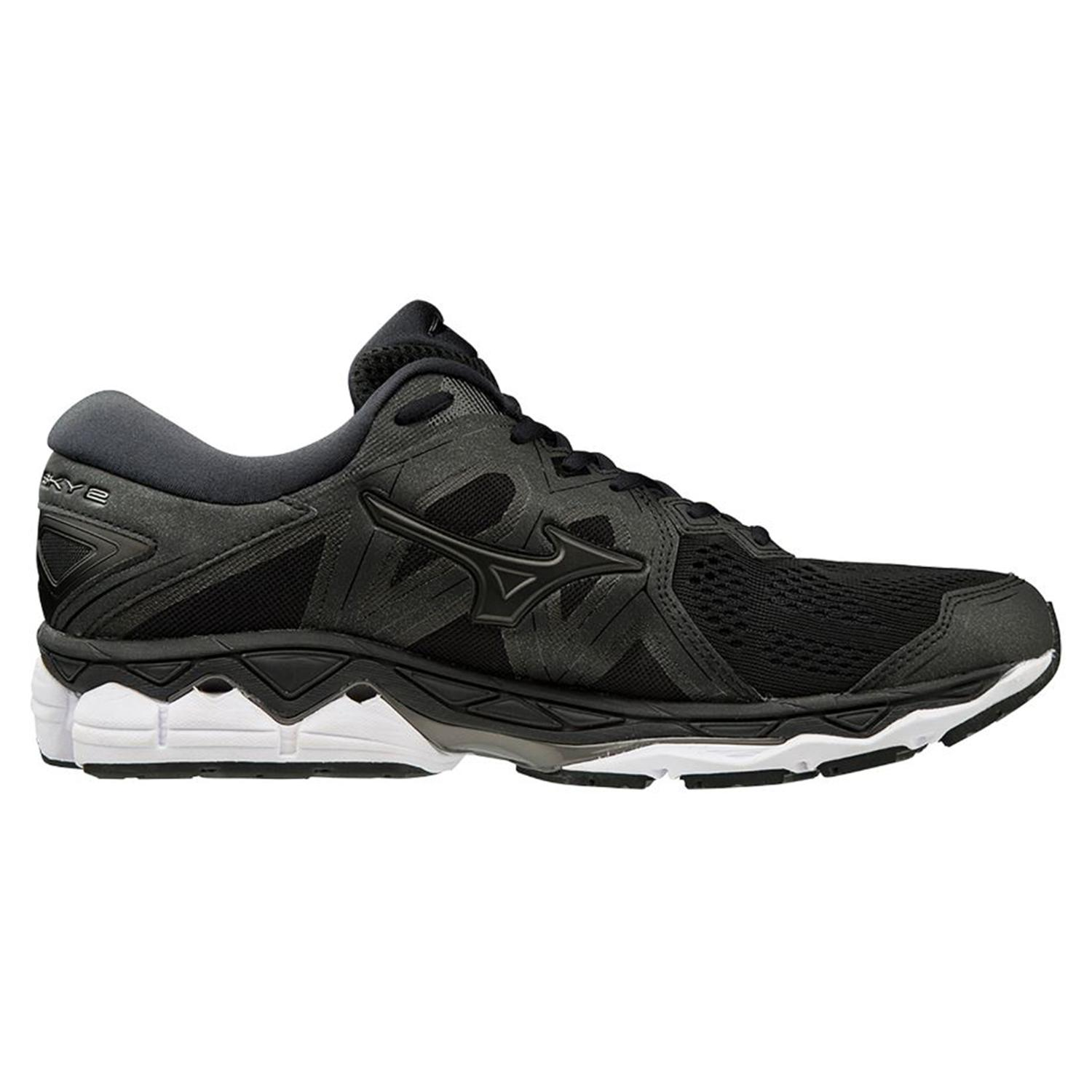 aecb4d5d Беговые кроссовки элит Mizuno 2019 Wave Sky 2 Black/Black/Met.Shadow ...