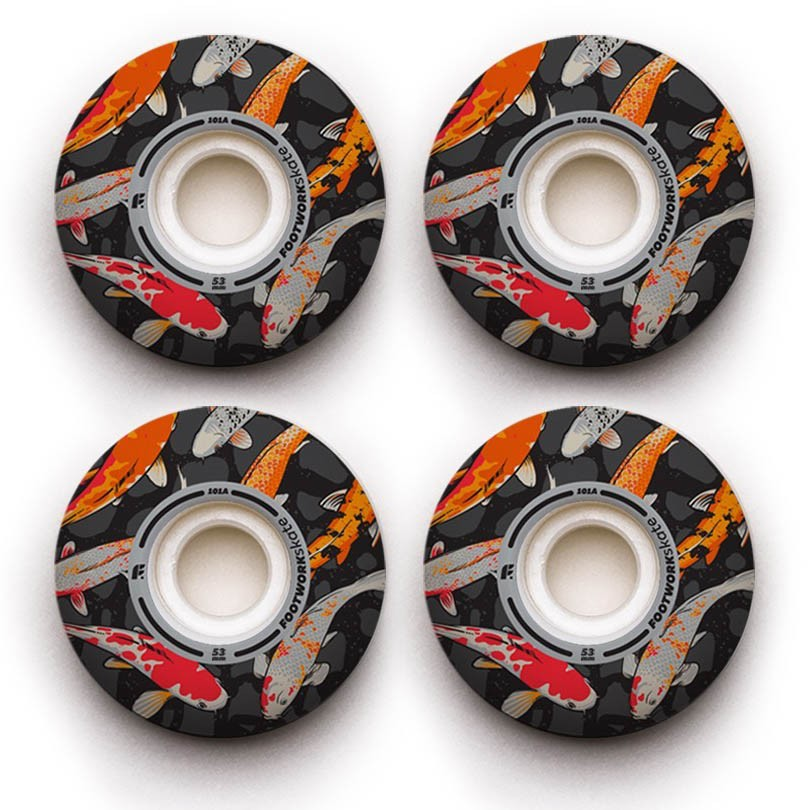 Колеса (4 Штуки) Для Скейтборда Footwork 2018 Carp Classic Shape 101A 53 Mm