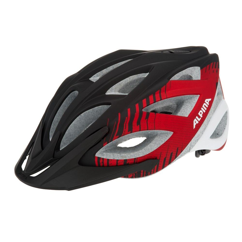 Летний шлем Alpina TOUR Skid 2.0 L.E. black-red-white, Шлемы велосипедные, 1179981  - купить со скидкой