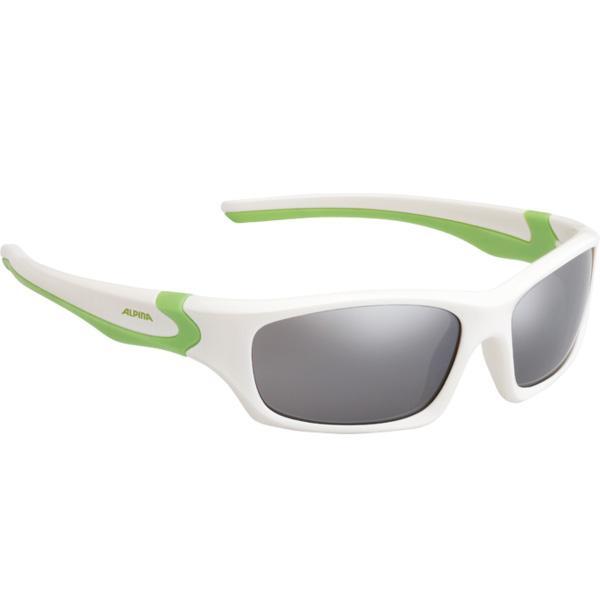 Купить Очки солнцезащитные Alpina JUNIOR / KIDS Flexxy Teen white-green/black mirror S3, солнцезащитные, 1131850