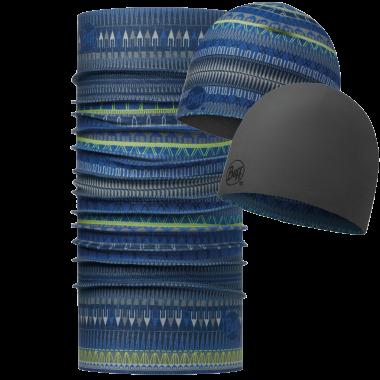 Купить Комплект (шапка+бандана) BUFF MICROFIBER COMBO OSLO BLUE Банданы и шарфы Buff ® 1239360