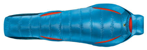 Спальник Salewa Trekking Down Phantom -7 left polar blue