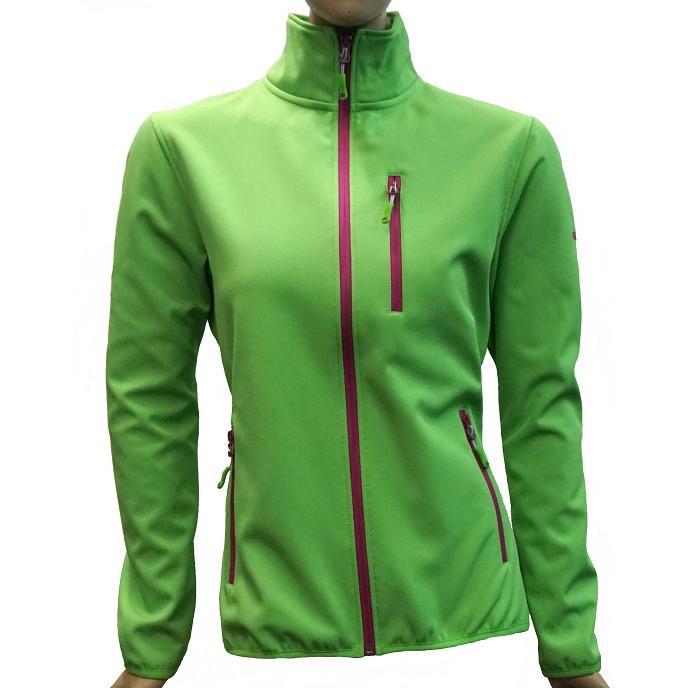 Купить Флис для активного отдыха GTS 2017-18 DAMEN Softshell 2-х слойный green/berry, Одежда туристическая, 1366445