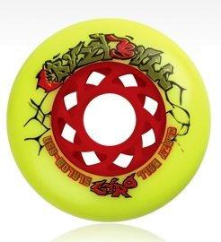 Купить Колеса GYRO CRAZY BALL 76 мм/85А yellow Аксессуары для роликов 745533