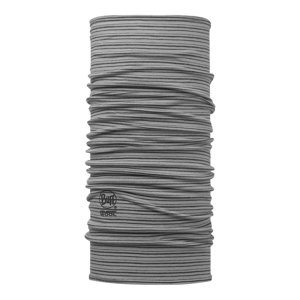 Купить Шарф BUFF Wool Patterned & Dyed Stripes MERINO WOOL LIGHT GREY STRIPES/OD Банданы и шарфы Buff ® 1343749