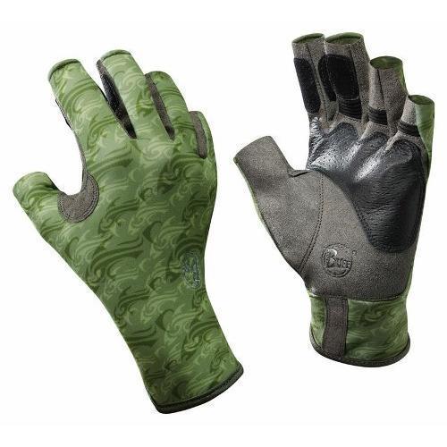 Купить Перчатки рыболовные BUFF Pro Series Angler Gloves Skoolin Sage (св. зеленый) Перчатки, варежки 849385