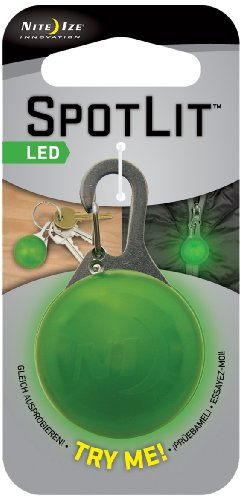 Светящийся Брелок Nite Ize Spotlit Eco Packaging - Lime Plastic/white Led от КАНТ