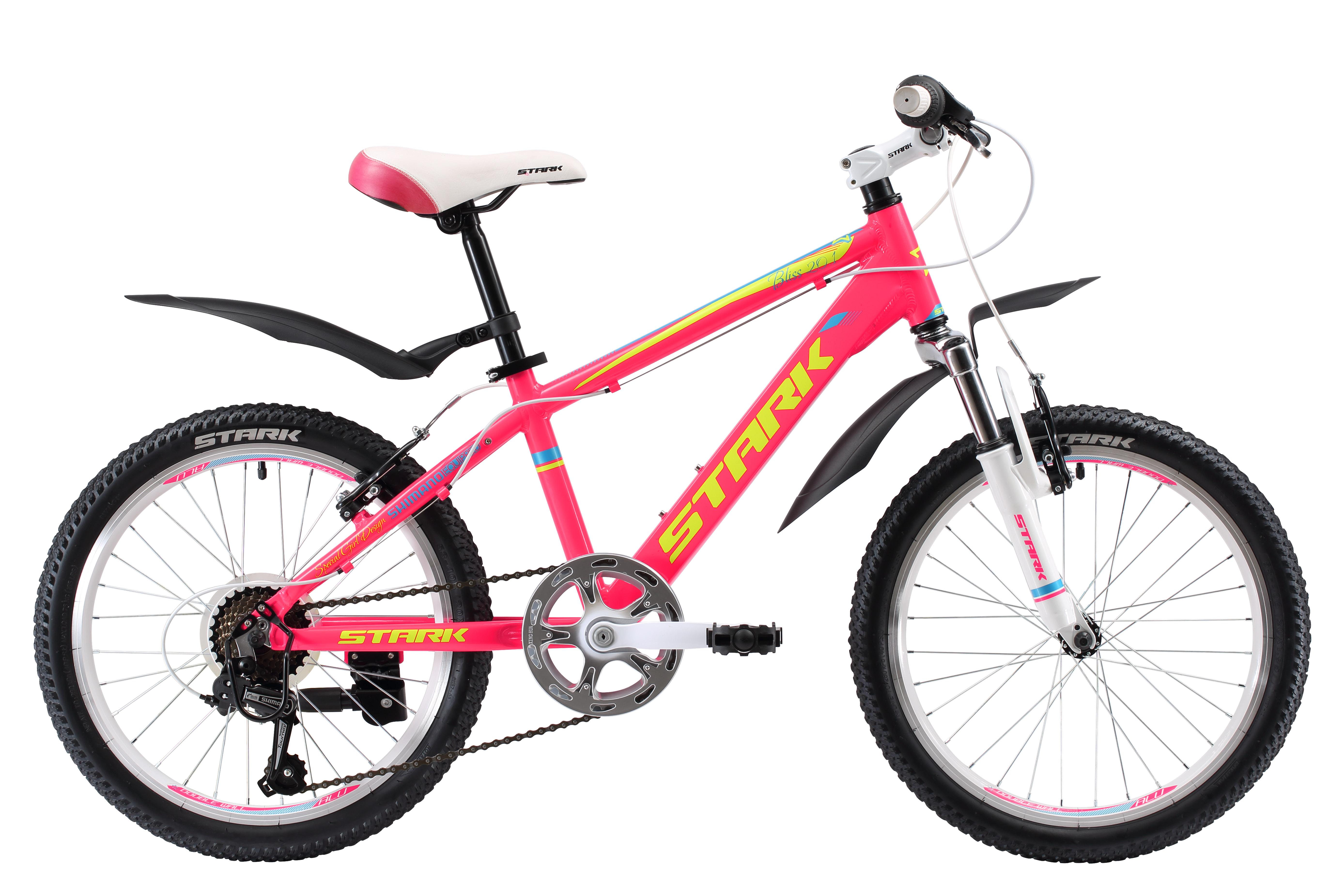 Купить Велосипед Stark Bliss 20.1 V 2017 Розово-Желтый, 6-9 лет (колеса 20 ), 1317874