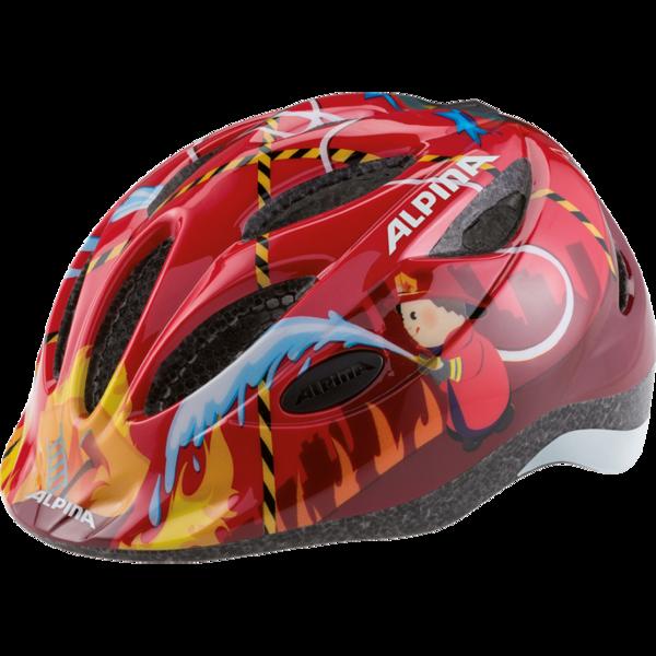 Купить Летний шлем Alpina JUNIOR / KIDS Gamma 2.0 Flash firefighter, Шлемы велосипедные, 1180159