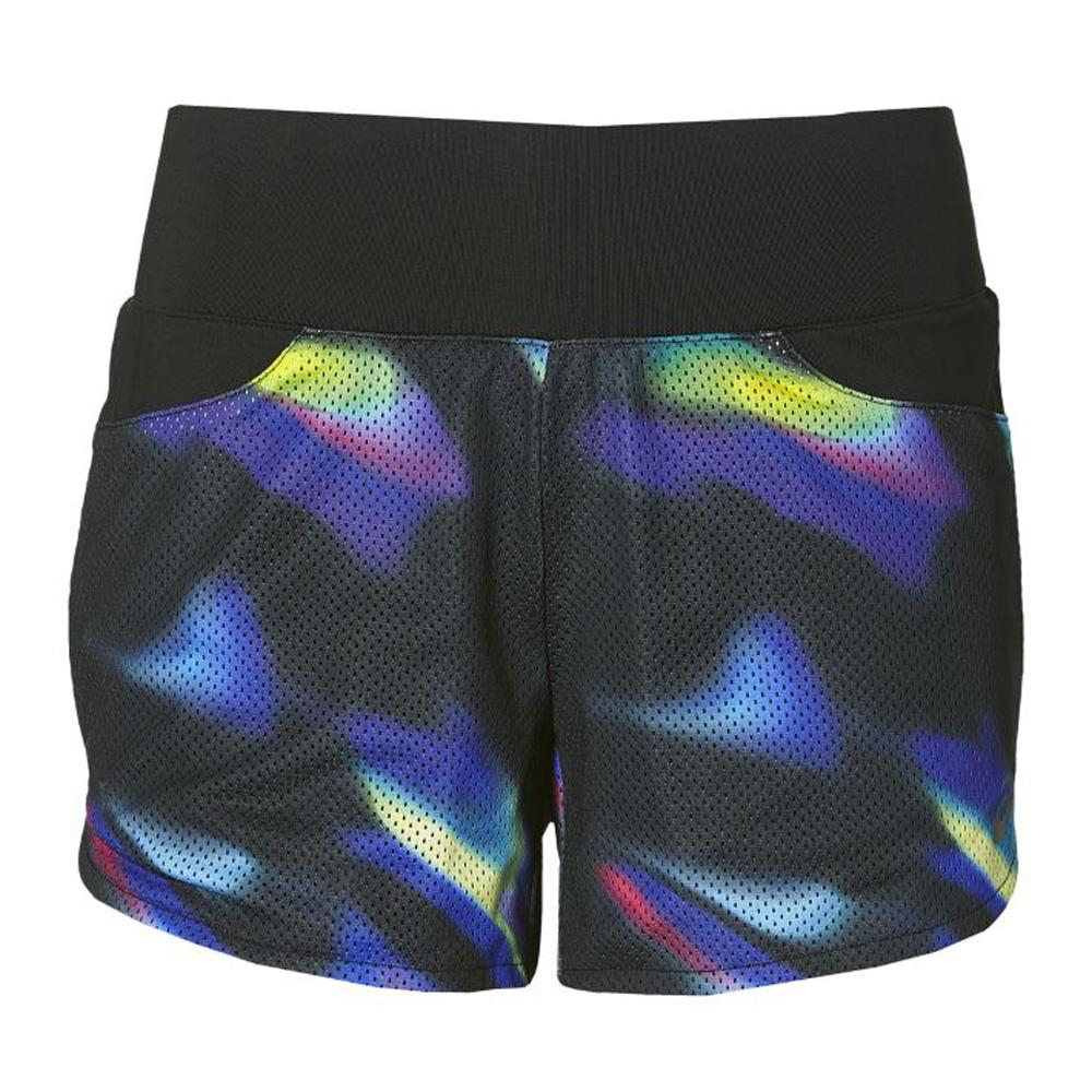 Купить Шорты Беговые Asics 2017 Fuzex Mesh Short Черный/синий, женский, Одежда для бега и фитнеса