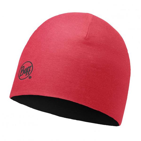 Купить Шапка BUFF WOOL JR & CHILD MERINO REVERSIBLE HAT SOLID BLACK-LOLLIPOP, Детская одежда, 1263852