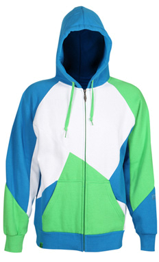 Флис сноубордический RIPZONE 2011-12 RECKLESS HOODIE 07 Electric Blue/White/Apple