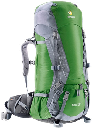 Купить Рюкзак Deuter 2015 Aircontact 50 + 10 SL emerald-titan Рюкзаки туристические 1073466