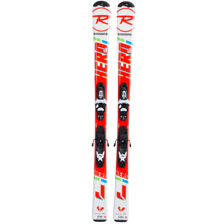 Купить Горные лыжи с креплениями ROSSIGNOL 2017-18 HERO JR KID-X/KID-X 4 B76, лыжи, 1363804