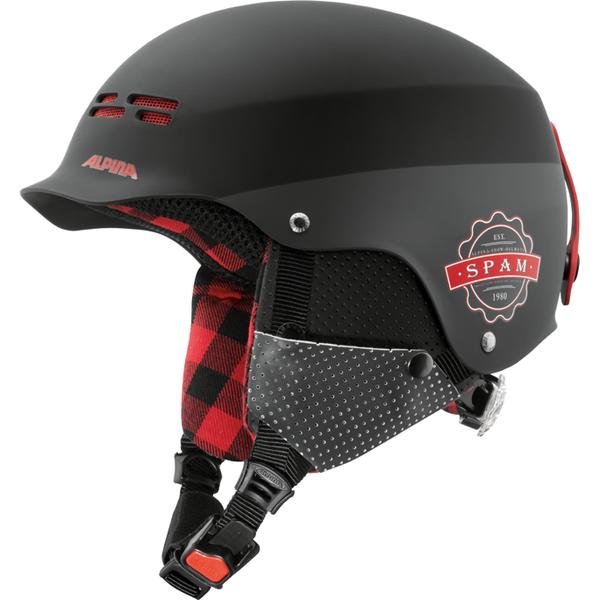 Зимний Шлем Alpina Spam Cap Jr Black-Lumberjack Matt