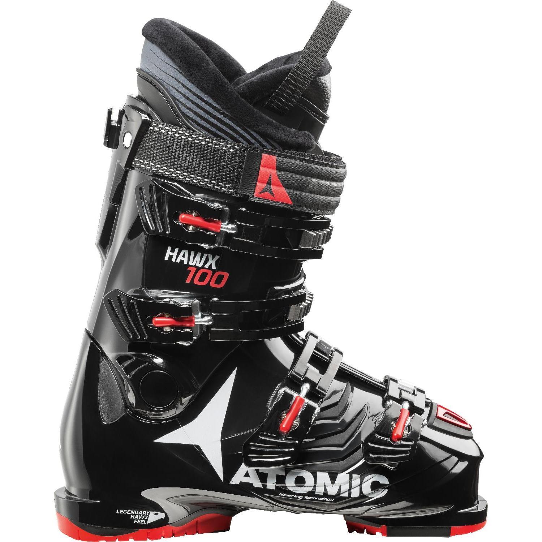 Купить Горнолыжные ботинки Atomic 2017-18 HAWX 1.0 100 Black/Red, Ботинки горнoлыжные, 1360673