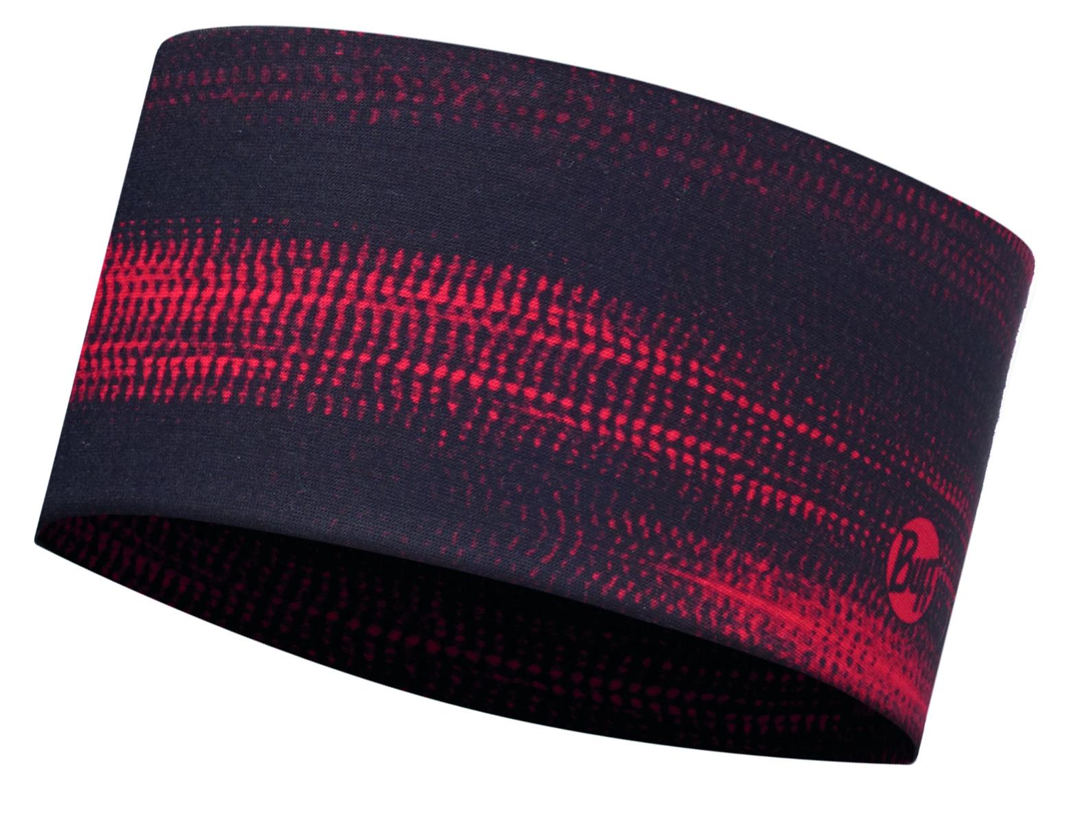 Повязка BUFF Headband STROKE RED Банданы и шарфы Buff ® 1312841  - купить со скидкой