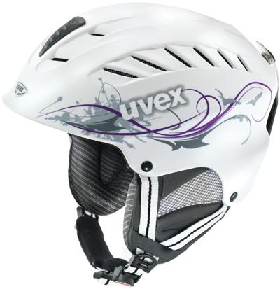 Купить Зимний Шлем UVEX X-RIDE LADY white/viola mat deco, Шлемы для горных лыж/сноубордов, 702874